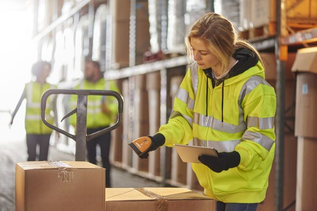 female warehouse operative
